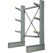 "Global Industrial™ Single Sided Medium Duty Cantilever Rack Starter, 2"" Lip, 48""Wx33""Dx6'H"