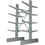 """Global Industrial™ Double Sided MD Cantilever Rack Starter, 48""""W x 60""""D x 8'H, With Lip"""