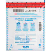 "Global Industrial™ FraudStopper™ Tamper Evident Clear Deposit Bag, 9""W x 12""H, 100/Pack"