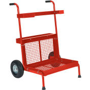 Vestil Portable Red Garden Dolly GD-2417-RD 300 Lb. Capacity