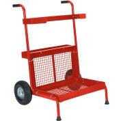 Vestil Portable Red Garden Dolly GD-2417-RD 300 Lb. Capacity