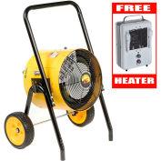 TPI Fostoria 10KW Heater 240V 1-Phase FES-1024-1CA W/10' Cord & Free 1500W Heater 188TASA