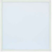 LED Recessed Panel Light, 2'x2', 40W, 4000 Lumens, 5000K, White Frame w/clips - Pkg Qty 2