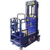Drivable Power Stocker Lift w/ Safety Sensor, 18' Blue - PS-12DS-B