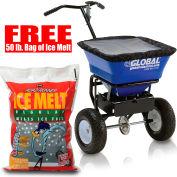 Global™ Universal Spreader w/ FREE 50 Lb. Bag of Ice Melt