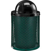 Global Industrial™ Thermoplastic Coated 32 Gallon Mesh Receptacle w/Dome Lid - Green