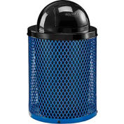 Global Industrial™ Thermoplastic Coated 32 Gallon Mesh Receptacle w/Dome Lid - Blue