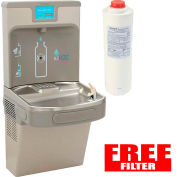 Elkay EZH2O LZS8WSLP Next Generation Bottle Refilling Station Wall Mount Gray w/Free Filter