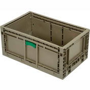 """Folding Transport Container KD2415-11 23-15/16""""L x 15""""W x 10-15/16""""H Gray"""