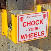 "Vestil Wheel Chock Holder WC-H-R 11-1/4""W x 8-1/3""D x 16""H"