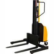 "Vestil Narrow Mast Stacker SLNM-98-AA Adjustable Forks & Legs 1500 Lb. Cap. 98"" Lift"