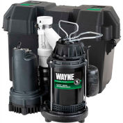 Wayne® WSS30Vn Pre-Assembled 1/2 HP Combination Primary & Battery Backup Sump Pump System