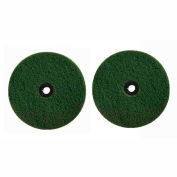 Boss Cleaning Equipment Green Scrubbing Pads 2 Pack