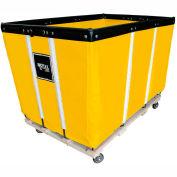 "10 BU-Std-Duty Basket Trucks By Royal - Vinyl Liner - 24""Wx36""Dx31-1/2""""H 4 Swivel Casters-Yellow"