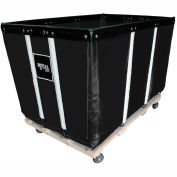 "10 BU-Std-Duty Basket Trucks By Royal - Vinyl Liner - 24""Wx36""Dx31-1/2""""H 4 Swivel Casters-Black"