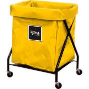 Royal Basket Trucks R08-YYX-XFA-3ONN 8 Bu Yellow Vinyl X-Frame Cart