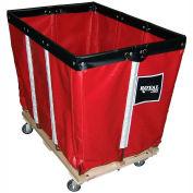 "8 BU-Standard-Duty Basket Trucks By Royal - Vinyl Liner - 32""Wx48""Dx36""H 4 Swivel Casters-Red"