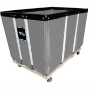 "8 BU-Standard-Duty Basket Trucks By Royal - Vinyl Liner - 32""Wx48""Dx36""H 4 Swivel Casters-Gray"