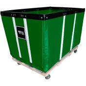 "10 BU-Std-Duty Basket Trucks By Royal - Vinyl Liner - 24""Wx36""Dx31-1/2""""H 4 Swivel Casters-Green"