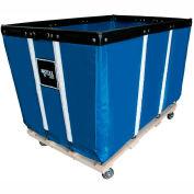 "10 BU-Std-Duty Basket Trucks By Royal - Vinyl Liner - 24""Wx36""Dx31-1/2""""H 4 Swivel Casters-Blue"