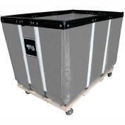 "10 BU-Std-Duty Basket Trucks By Royal - Vinyl Liner - 24""Wx36""Dx31-1/2""""H 4 Swivel Casters-Gray"