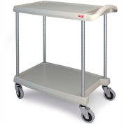 "Metro myCart™ 2-Shelf Utility Cart with Chrome-Plated Posts - 31-1/2 x18-5/16"" -Gray"