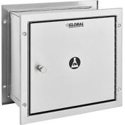 """Global™ Stainless Steel Recessed Specimen Pass-Thru Cabinet, 13-1/4""""W x 6""""D x 12-3/4""""H"""