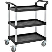 High Capacity 3 Shelf Utility Cart 550lb Cap