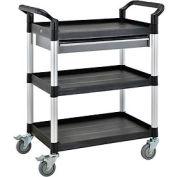 3 Shelf Utility Cart W/One Drawer  550lb cap