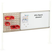 "Panel Kit for 60""W Workbench with 18""W Louver and 36""W Whiteboard, Mounting Rail - Tan"