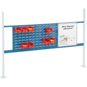 "Panel Kit for 72""W Workbench with 18""W Whiteboard and 36""W Louver, Mounting Rai - Blue"