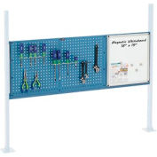 "Panel Kit for 60""W Workbench with 18""W Whiteboard and 36""W Pegboard, Mounting Rail - Blue"