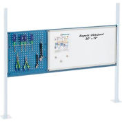 "Panel Kit for 60""W Workbench with 18""W Pegboard and 36""W Whiteboard, Mounting Rail - Blue"