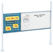 """Mounting Kit with 18""""W Louver and 36""""W Whiteboard for 60""""W Workbench - Blue"""