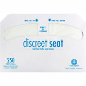 Hospeco Discreet Seat 1/2 Fold Toilet Seat Covers 250 Covers/Pack, 20 Packs/Case DS-5000