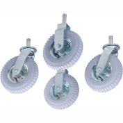 "Nexel - 8"" (2) Rigid, (2) Swivel Stem Casters CA85RN, Pneumatic Set of (4)"