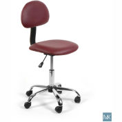 AYC Group Alice Technician Stool, Burgundy