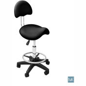 AYC Group Kelly Esthetician Stool, Black
