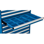 """Dividers for 3""""H Drawer of Global™ Modular Drawer Cabinet 36""""Wx24""""D, Blue"""