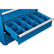 """Dividers for 8""""H Drawer of Global™ Modular Drawer Cabinet 36""""Wx24""""D, Blue"""