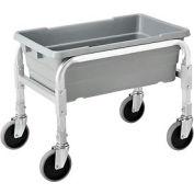 "NSF Aluminum Lug Cart 23""L x 15-1/2""W x 19""H,  1 Tote Capacity, All Welded"