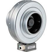 Inline Mixed Flow Duct Fan, 6 Inch, Galvanized Steel, 291 CFM, Energy Star