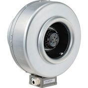 Inline Mixed Flow Duct Fan, 8 Inch, Galvanized Steel, 541 CFM, Energy Star