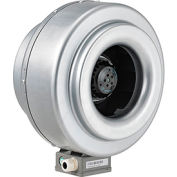 Inline Mixed Flow Duct Fan, 10 Inch, Galvanized Steel, 630 CFM, Energy Star