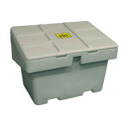"Techstar SOS Outdoor Storage Container 48"" x 33"" x 34""  - 18.5 Cu. Ft. - Light Gray"