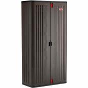 """Suncast Plastic Mega Tall Storage Cabinet - 4 Shelf BMCCPD8004 - 40"""" W x 20-1/4"""" D x 80-1/4"""" H"""