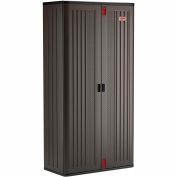 """Suncast Plastic Mega Tall Storage Cabinet - 6 Shelf BMCCPD8006 - 40"""" W x 20-/14"""" D x 80-1/4"""" H"""