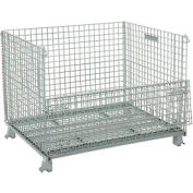 """Folding Wire Container 48""""L x 40""""W x 36-1/2""""H 3000 Lb. Capacity"""