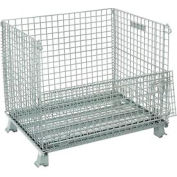 """Folding Wire Container 40""""L x 32""""W x 34-1/2""""H 3000 Lb. Capacity"""