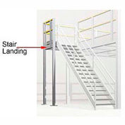 4' X 4' Stair Landing For Mezzanine - Boca 3 Rail